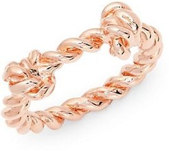 Palazzo Knotted Rose-Goldplated Ring