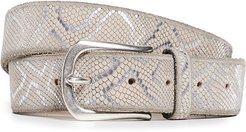 Embossed Metallic Belt