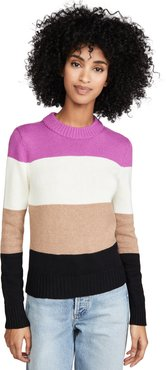 Wide Stripe Roll Neck Sweater