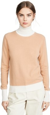 Combo Cashmere Turtleneck