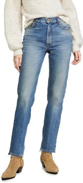 Arts Mid High Straight Jeans