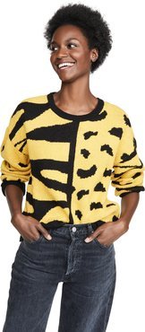 Zebra Leopard Mix Sweater