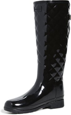 Refined Quilted Tall Gloss Boots