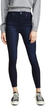 x We Wore What Danielle High Rise Skinny Zip Jeans