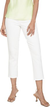Nadia High Rise Crop Straight Jeans