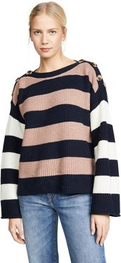 Dana Boatneck Stripe Mix Sweater