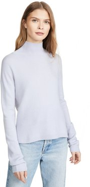 High Low Turtleneck Cashmere Pullover