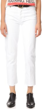 High Rise Rigid Stovepipe Jeans