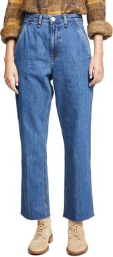 Ruth Super High Rise Straight Jeans