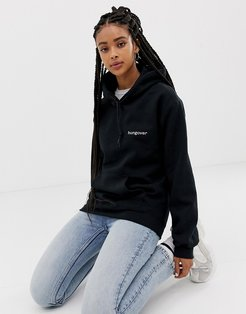 hungover hoodie-Black
