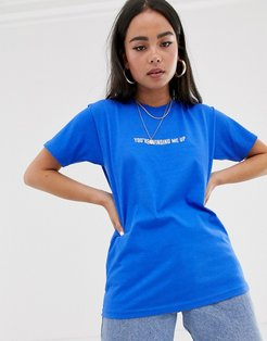 you're winding me up t-shirt-Blue