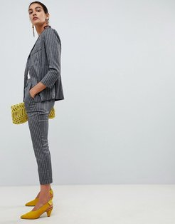 Angel Eye Checked Tailored PANTS-Gray