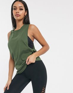4505 drop armhole tank in cotton touch-Green
