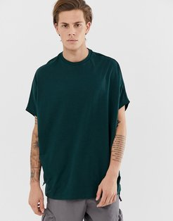 organic extreme oversized t-shirt in green