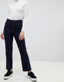 Recycled Egerton rigid cropped flare jeans in indigo-Blue