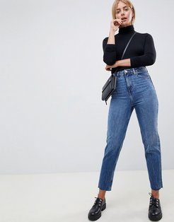 Recycled Ritson rigid mom jeans in rich stonewash blue