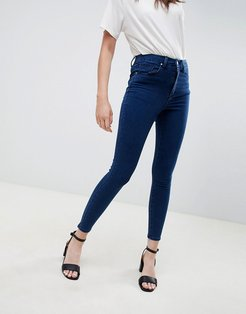 'Sculpt me' high waisted premium jeans in flat blue