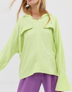 hooded top-Green
