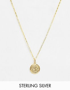 14k gold plated coin necklace