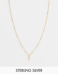exclusive sterling silver 18K gold plated pendant necklace on satellite chain