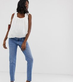 Maternity mom jean with removable band-Blue