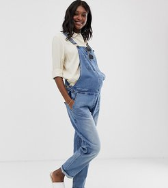 Maternity relaxed fit overalls-Blue