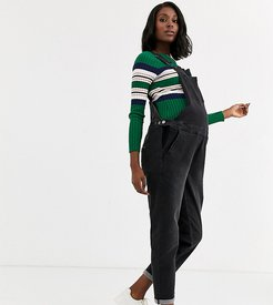 Maternity relaxed fit overalls-Black