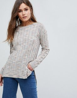 Gunner Rainbow Ribbed Knit Sweater-Multi