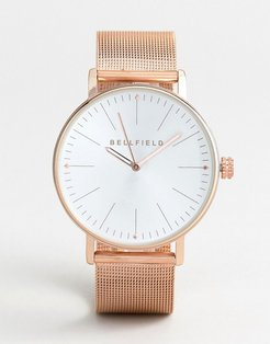 Mesh Strap Watch in Rose Gold