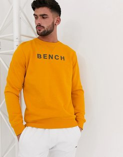 oversized sweatshirt with vintage font in golden yellow