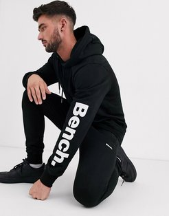 two-piece hoodie in relaxed fit with side logo in black