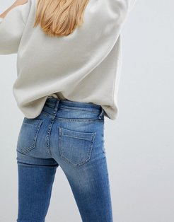 Moon May Skinny Jeans-Blue