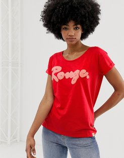 Timmy rouge slogan t-shirt-Red