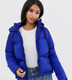 cello hooded puffer jacket-Blue
