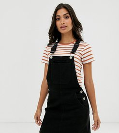 overall dress with pockets-Black