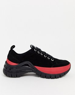 Tisha cleated chunky sneakers in black