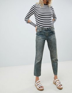 Revive Cropped Straight Leg Jean-Blue