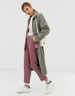 Custommade Tessa checked trench coat-Beige