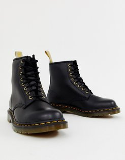 faux leather 1460 8-eye boots in black