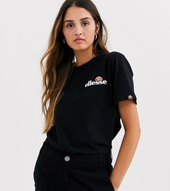 t-shirt with embroidered chest logo-Black
