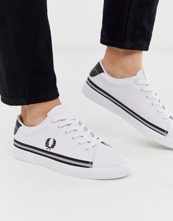 Lottie leather reflective sneakers-White