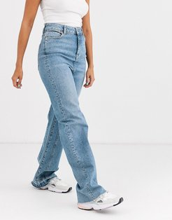 relaxed straight slouch-Blue