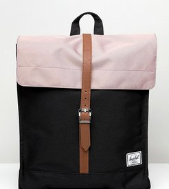 Exclusive City backpack in ash rose pink and black-Multi