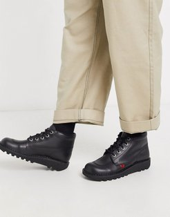 kick hi boots in black leather
