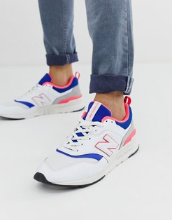 997 Pink And White Sneakers