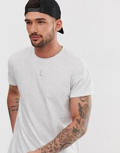 crew neck t-shirt in gray marl