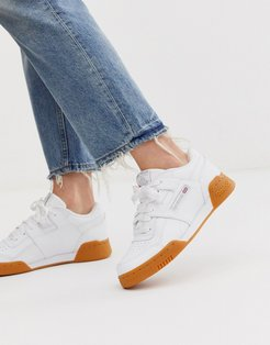 Workout Low Plus in White and Gum