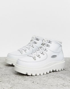Shindig 6eye leather hiker boot-White