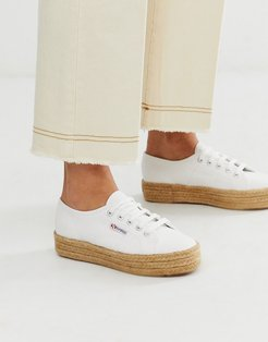 2790 espadrille flatform sneakers in white