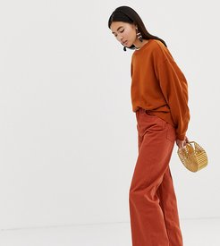Ace wide leg jeans with organic cotton in rust-Brown
